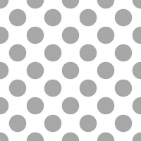 Lunch napkins Big Dots Silver