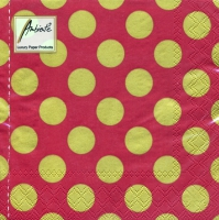 Lunch napkins Big Dots Red/Gold