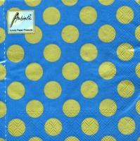 Lunch napkins Big Dots Petrol/Gold