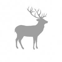 Lunch Servietten Deer Contour Silver