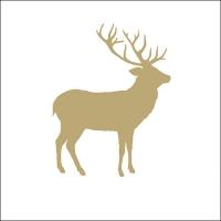 Lunch Servietten Deer Contour Gold