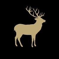 Lunch Servietten Deer Contour Black/Gold