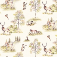 Lunch napkins Woodland Deer