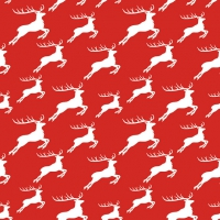 Lunch napkins Jumping Deer Neg.Red