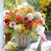 Serviettes lunch Dahlia Bouquet