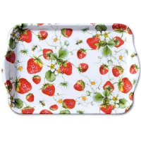 Tray  Strawberries All Over White