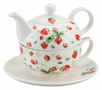 Tea 4 One Strawberries All Over White