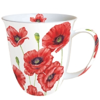 porcelain cup MUG 0.4 L ROMANTIC POPPY