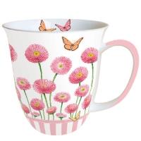 Porzellan-Henkelbecher MUG 0.4 L BELLIS ROSE