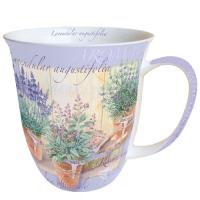 porcelain cup Mug 0.4 L Lavendular