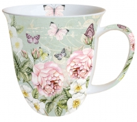 tasse de porcelaine Botanical Green