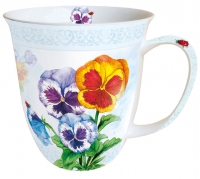 porcelain cup Aquarell Pansy