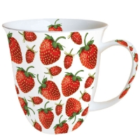 tasse de porcelaine Strawberries