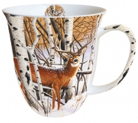 porcelain cup Mug 0.4 L Deer In Forest