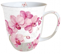 porcelain cup Mug 0.4 L Orchids With Love
