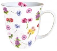 porcelain cup Mug 0.4 L Flower Festival