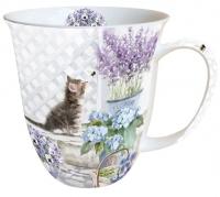 porcelain cup Mug 0.4 L Kitten
