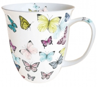 porcelain cup Mug 0.4 L Butterfly