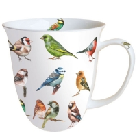porcelain cup Mug 0.4 L Collection Of Birds