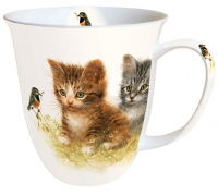 Porzellan-Henkelbecher Mug 0.4 L Kitten Friend