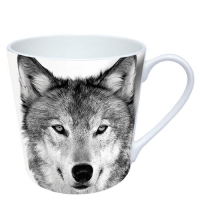 porcelain cup Wolf