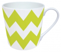 tazza di porcellana MUG ZIG ZAG GREEN