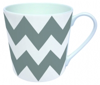 tazza di porcellana MUG ZIG ZAG GREY