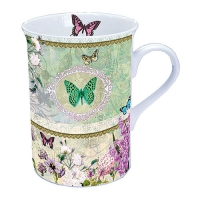 taza de la porcelana Butterfly Medaillon