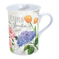 taza de la porcelana Fleurs Du Jardin