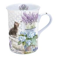 taza de la porcelana Kitten