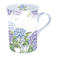 taza de la porcelana Hortensia