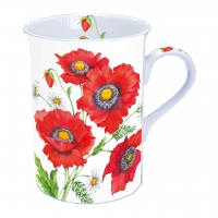 taza de la porcelana Poppy Scene