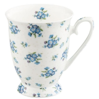 taza de la porcelana Forget Me Not