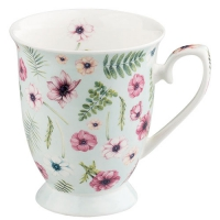 taza de la porcelana Anemones Green