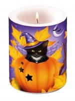 Kerze Halloween Cat