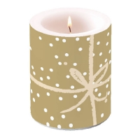 Kerze Candle Big Wrapping Gold Pos.