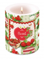 Candles Candle Big Sweet Strawberries