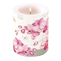 candele Candle Big Orchids With Love