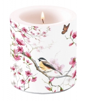Candles Bird & Blossom White
