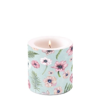 Candles Anemones Green