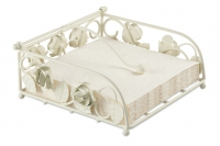 Napkin Holder Rose Big Cream