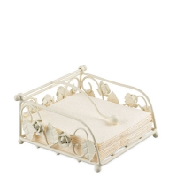 Napkin Holder Rose Small Cream