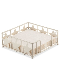 Napkin Holder Star Big Cream