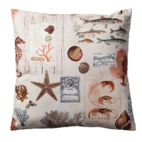 Pillow Sepia Sea Cream