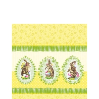 Cocktail napkins Nostalgic Easter Yellow