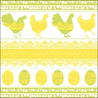 Lunch Servietten EASTERN SILHOUETTE YELLOW/GREEN