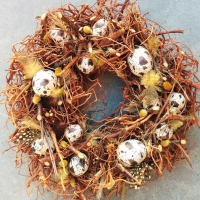 Serviettes lunch Easter Wreath