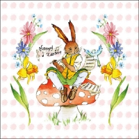 Lunch napkins Easter Song Rose