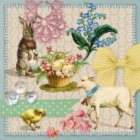 Serviettes lunch Easter Collage