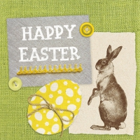 Lunch napkins Easter Linen Green